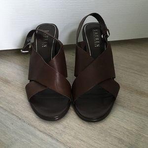 Ralph Lauren Brown Heels Size 8